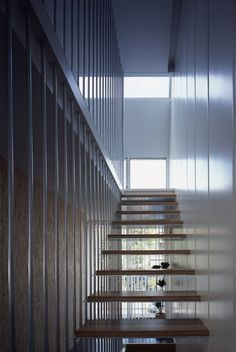 Tokyo Steel House / MDS  stair structure is also guard