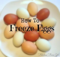 How To Freeze Eggs by FabulousFarmGirl. A simple and easy way to make sure you never run out of eggs. Who knew?