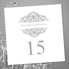 Professionally designed DIY printable tent style table number template is an instant download. There are coordinating place (escort) cards, wedding programs, seating charts and menus in my shop. Please order custom colors in advance.  COLOR OPTIONS: This design is available in any color you choose. Simply send me a message with your color choice and I will provide you with custom ordering instructions within 24 hours.  Your files will be sent to you immediately upon payment through Etsy…