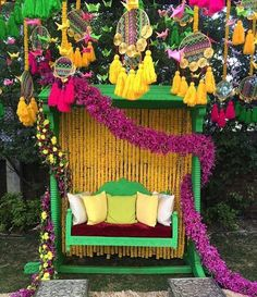 Let's jump to the list of off-beat Mehndi ceremony decoration ideas, that will lit up your decor in the best way, unique mehndi decor ideas Desi Wedding Decor, Wedding Decorations On A Budget, Ceremony Decorations, Rustic Wedding, Trendy Wedding, Budget Wedding, Hall Decorations, Flower Decorations, Gold Wedding