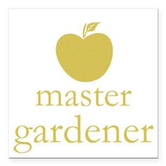 Cute Yellow Apple Master Gardener Square Car Magnet
