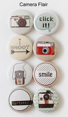 Camera flair... These would be cute as magnets, probably easy to diy!