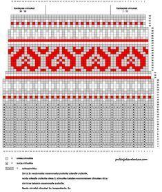 Knitting Charts, Baby Knitting Patterns, Cross Stitch Heart, Wool Socks, Mittens, Free Pattern, Tapestry, Diy, Table Runners
