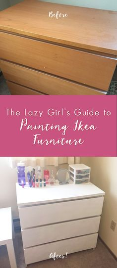 If you've ever wanted to revamp your Ikea furniture or redecorate your place on a budget, it's actually possible to paint Ikea furniture, and it was a lot easier than I expected. Here is the lazy girl's guide to painting Ikea furniture (not limited to just girls though