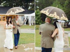 Rainy Houston Wedding... So cute! Despite the rain!