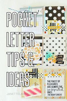 Janette Lane: Pocket Letter Tips & Ideas