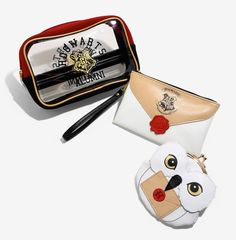 A cosmetic bag set so you're never without your most bewitching trick: makeup.