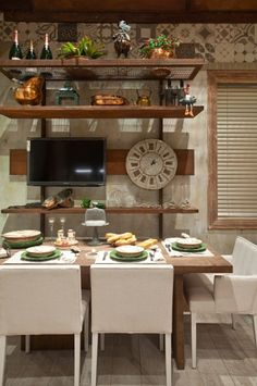 Sala de almoço + cozinha - Casa Cor Rio