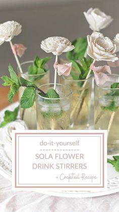 Sola Flowers, Fake Flowers, Wedding Flowers, Cocktail Recipes, Cocktails, Drinks, Drink Stirrers, Diy Wedding Decorations, Wedding Ideas