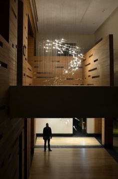FLYLIGHT glass light installation, Moscow, Russian Federation  by: Studio DRIFT