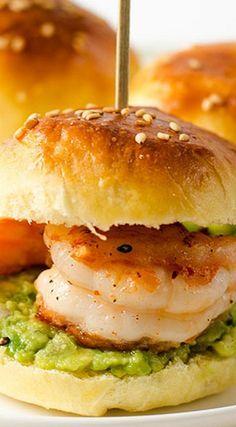 Mini Shrimp Guacamole Sandwich