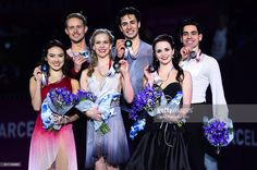 Kaitlyn Weaver & Andrew Poje (CAN), Madison Chock & Evan Bates (USA), and Anna Cappellini & Luca Lanotte (ITA)  2015 Barcelona