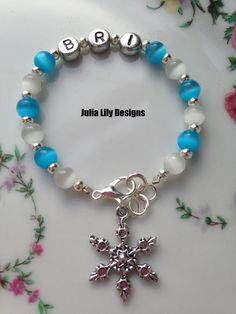 A personal favorite from my Etsy shop https://www.etsy.com/listing/210865371/personalized-girls-glass-beaded-bracelet