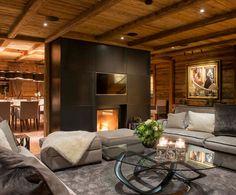 Chalet Uberhaus Fireplace Austria