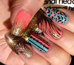 Crazy nails THE MOST POPULAR NAILS AND POLISH #nails #polish #Manicure #stylish