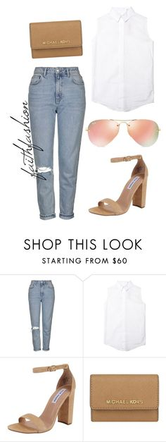 """""""Untitled #266"""" by faithfashionash on Polyvore featuring Topshop, Steve Madden, MICHAEL Michael Kors and Ray-Ban"""