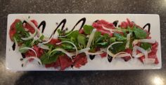 Grass Fed Filet Carpaccio, Mache, Shaved Aged Parmesan, Fried Capers - Chef Matthew Harker