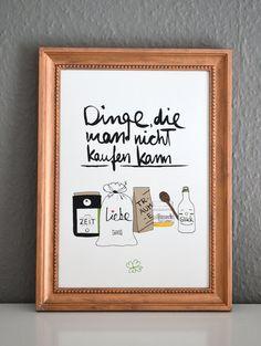 """Druck """"Dinge, die man nicht kaufen kann"""" // print """"things you can't buy"""" by FORMART - Zeit für Schönes! via DaWanda.com"""
