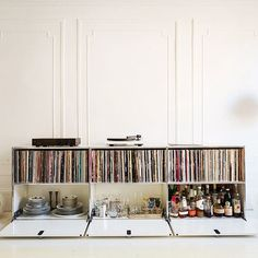 There's room for all your collections.. #USMhaller #usmmodularfurniture #vinyllove