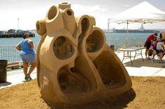 Heart Shaped Cast Sand Sculpture