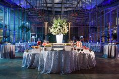 A single large arrangement makes a statement in a large space. Food Stations, Academy Of Sciences, Catering, Table Decorations, Space, Floral, Room, Home Decor, Floor Space