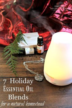 Want to ditch the synthetic air freshener, but still want your house to spell clean and fresh? Aromatherapy is known as a safer alternative that can also help promote sleep, diminish stress so you can relax, boost energy, and more. Here are 7 Holiday Essential Oil Blends to use in a diffuser. Complete with a link to an essential oil safety guide! #essentialoil #diffuser #airfreshener