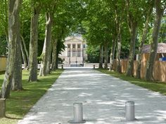 Ch. Margaux, Medoc Vineyard, Sidewalk, Walkways, Vineyard Vines, Pavement