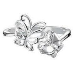 Sterling Silver Plated Fluttering Butterfly Ring by Avon size 8 -- Awesome products selected by Anna Churchill