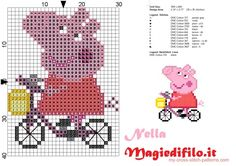 Kids Knitting Patterns, Jumper Knitting Pattern, Knitting Charts, Cross Stitch Baby, Cross Stitch Charts, Cross Stitch Patterns, Cross Stitching, Cross Stitch Embroidery, Peppa Pig Family