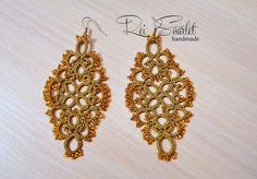 Handmade Tatting Earrings Indira by DioneJewellery on Etsy