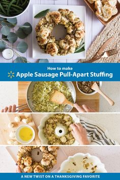 A new twist on a Thanksgiving original - Apple Sausage Pull Apart Stuffing! Get all of your ingredients at Walmart.