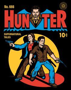 Hunter Comic T-Shirt $10 Supernatural tee at ShirtPunch today only!