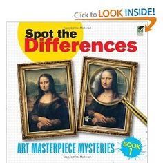 Amazon.com: Spot the Differences Book 1: Art Masterpiece Mysteries (Dover Children's Activity Books) (9780486472997): Dover, Alan Weller: Books