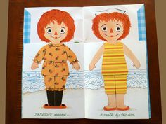 """Raggedy Ann and Andy Vintage """"Flip A Page, Change an Outfit""""  a First Doll Book published 1969 by Whitman SHIPS FREE! Cute and charming!"""