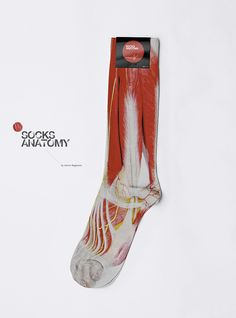 Socks design concept using the human anatomy texture by Anton Repponen. These are so cool. And I am such a nerd.