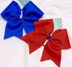 Bows by April - Solid Color Ribbon Cheer Bow, $5.00 (http://www.bowsbyapril.com/solid-color-ribbon-cheer-bow/)