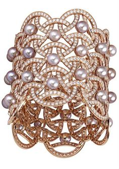 Cartier Paris Nouvelle Vague Pearl and Diamond Cuff