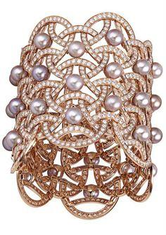 Cartier Paris Nouvelle Vague Pearl and Diamond Cuff