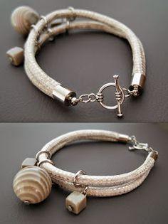 Pracownia biżuterii artystycznej EmiLa: Krzemień pasiasty/ Striped flint