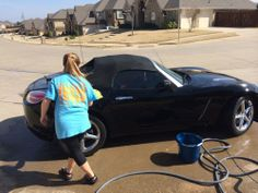 It's important to get kids involved early in how to care for a vehicle. Tip: Teach your children that washing a vehicle not only makes it look great, but helps with gas mileage since it's clean.