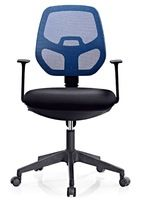 Economic computer mesh fabric office chair with nylon castors 345