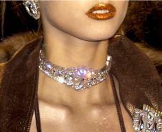 - phreshouttarunway: Christian Dior chokers, S/S...