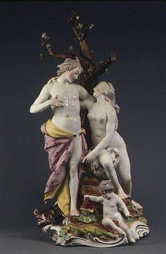 Meleager and Atalanta, 1777.  Frankenthal Porcelain Manufactory.  Hard paste porcelain.  Metropolitan Museum of Art.