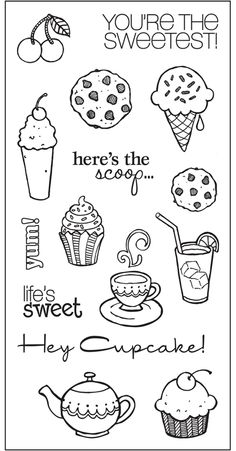 "The Sweet Life Simple Stick™ Repositionable Rubber Stamps (4"" x 8"")"