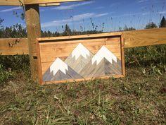 Mountain art created by a mountain man. Mountain Art, Three Sisters, Mountains, Create, Design, Design Comics, Bergen