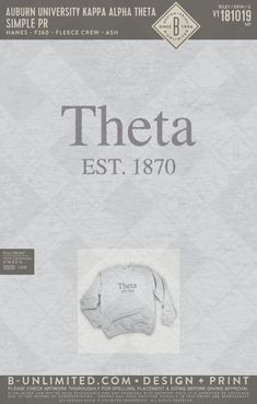 #Theta #CustomDesigns #GreekLife Kappa Alpha Theta, Auburn University, Greek Clothing, Greek Life, Custom Clothes, Print Design, Cards Against Humanity, Greek Outfits, Print Layout