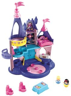 www.buygiftidea.com/fisher-price-little-people-disney-princess-songs-palace/ ... Fisher-Price Little People Disney Princess Songs Palace   Bring any Little People Disney princess to the pedestal on the Magic Dance Floor. You'll hear her name, different phrases, and even a classic Disney song! Cinderella and Snow White figures are included. (Ariel, Tiana, Rapunzel, Aurora, Jasmine & Belle sold separately.)