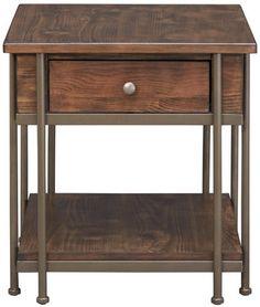 Breck Rectangular End Table   Art Van Furniture
