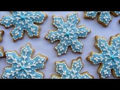 How To Decorate Snowflake Cookies - YouTube