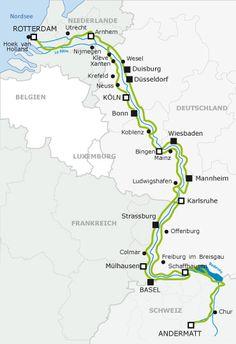 EuroVelo 15: Von der Quelle des Rheins bis zur Mündung in die Nordsee. — Startseite